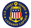 US Coast Guard licensed captain logo